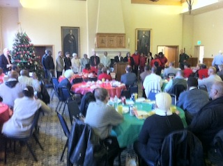 Much to celebrate: ACSS clients, staff, board members and other friends gather for a holiday party back in mid-December.